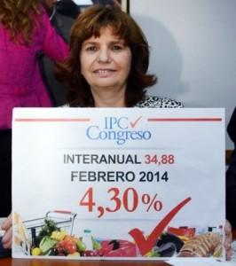 El indice en manos de la diputada Bullrich (Unión PRO)
