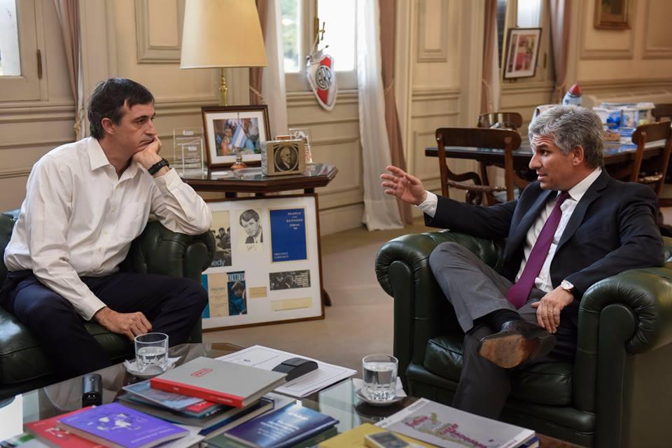 Poggi junto al Ministro de Educación de la Nación, Esteban Bullrich