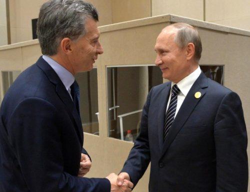 """Mauricio Macri con Vladimir Putin """"Argentina es un socio muy importante, nuestro intercambio creció un 3.1 %"""""""