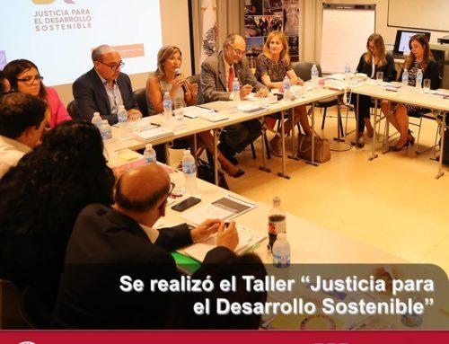 """Taller de """"Justicia para el Desarrollo Sostenible"""""""