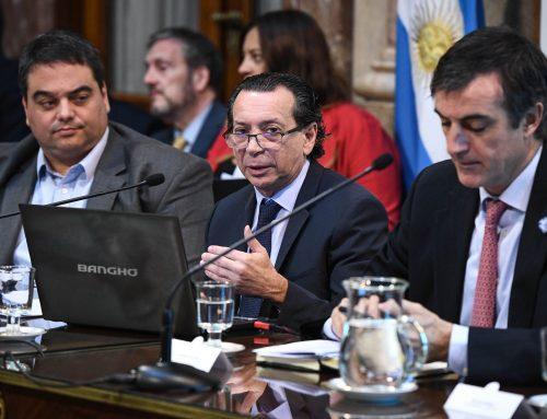 """Presupuesto 2019: El ministro de Producción y Trabajo expuso en el Senado los """"ejes de acción"""" del área"""