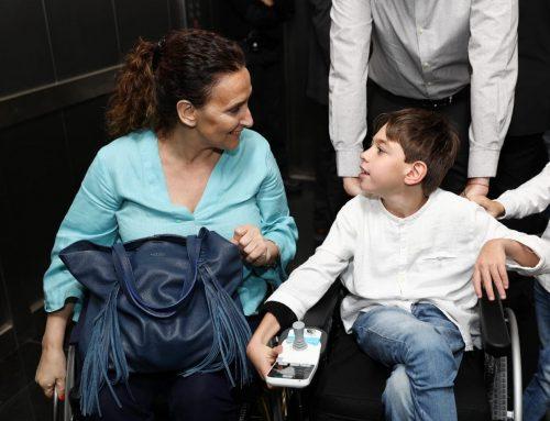 Michetti en la presentación de un corto sobre discapacidad dirigido por Campanella