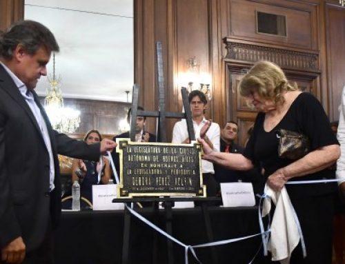 La Legislatura porteña homenajeó a Débora Pérez Volpin tras un año de su fallecimiento