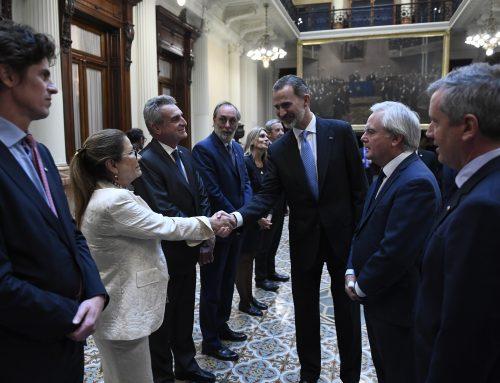 El Congreso recibió con legisladores de todos los bloques al rey de España
