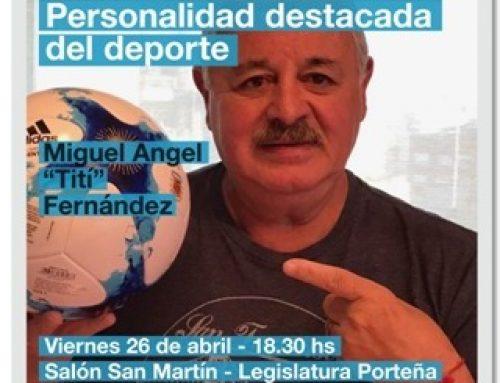 Tití Fernández será distinguido por la Legislatura Porteña