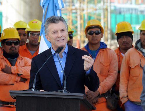 Macri anunció que enviará al Congreso un proyecto de ley para promover la industria de la construcción