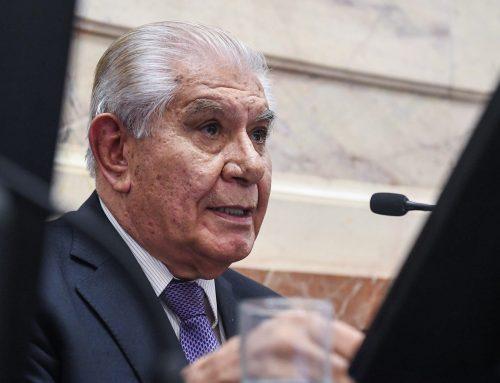 Guillermo Pereyra en campaña para volver a ser senador