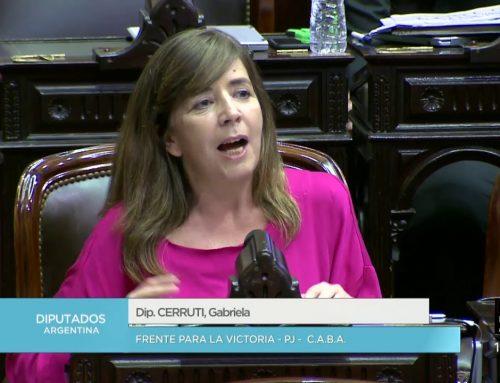 Cerruti y el FpV presentaron proyecto en contra del Servicio Cívico Voluntario