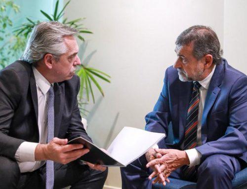 Caserio se reunió con Alberto Fernández para analizar «las próximas actividades del Senado nacional»