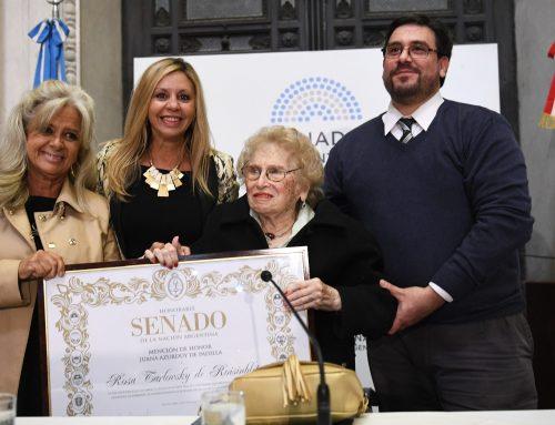 Distunguieron a Rosa Tarlovsky, vicepresidenta de Abuelas de Plaza de Mayo