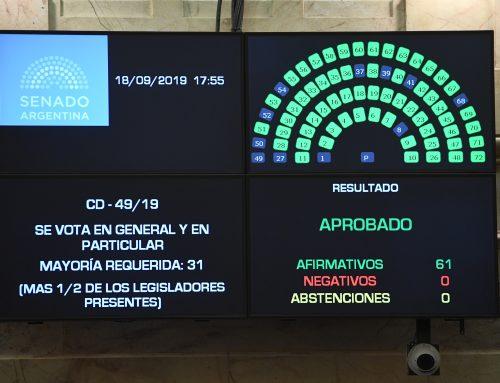 Sin Pichetto ni CFK, el Senado aprobó la Emergencia Alimentaria por unanimidad