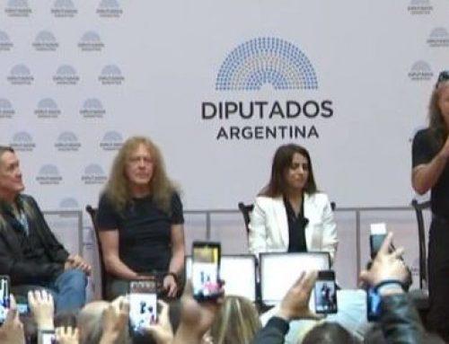 Iron Maiden en Diputados: «Nuestro corazón esta en Argentina»