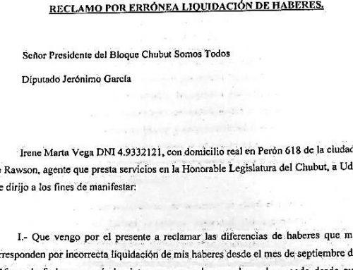 Escándalo en Legislatura chubutense: denuncian sueldos mal liquidados desde 2015 y por fuera del CCT
