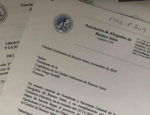 AABA presentó proyecto de ley para que la Ciudad tenga Justicia propia en materia de Relaciones del Consumo
