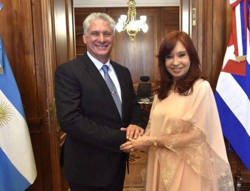 CFK recibió en el Senado al presidente de Cuba y pidió permiso para viajar a la isla el 28/12