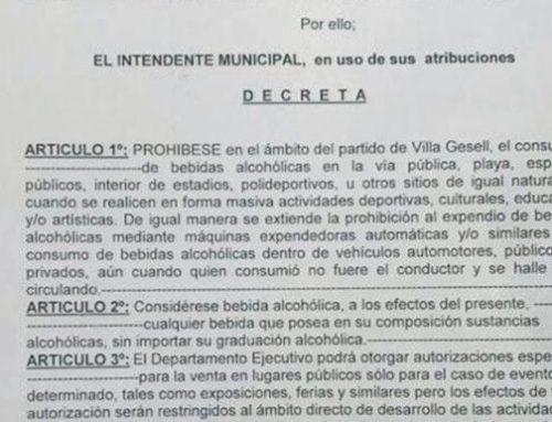 Se decretó el «Alcohol Cero» en Villa Gesell