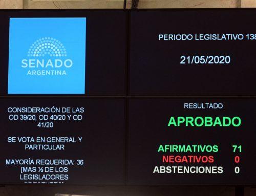 El Senado sancionó las primeras leyes del Congreso con sistema de votación a distancia