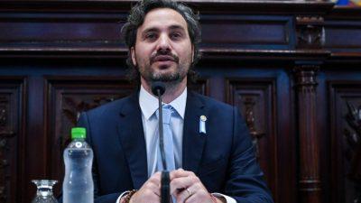 Presentan moción de censura contra Cafiero intimándolo a concurrir al Senado para ser interpelado por violencia verbal