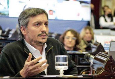Máximo Kirchner condenó la «mezquindad» de JxC y disparó contra los medios de comunicación