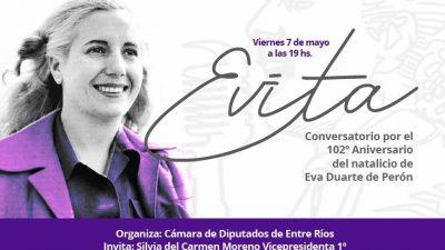 ENTRE RIOS – Conversatorio por el aniversario del natalicio de Eva Duarte de Perón