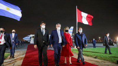 Alberto Fernandez en Perú: «Es necesario que América Latina este unida» (Video)