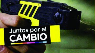 «Juntos por las Taser»: Presentan un Proyecto de Ley para que se autorice su uso